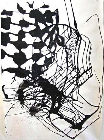 'Untitled', 2008, ink on paper, 150x105 cm