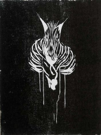 'Untitled', 2009, woodcut, 40x30 cm