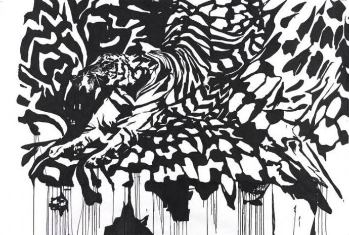 'Untitled', 2007, ink on paper, 150x220 cm