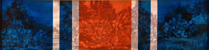 'War Medals', 2002, oil on canvas, 30x120 cm