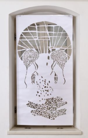 'Untitled', 2013, paper cutting, 158x82 cm