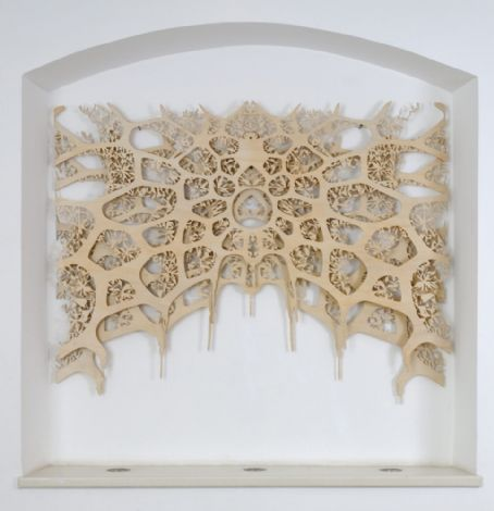 'Southern Rose', 2012, two wood cuttings, each 120x170 cm