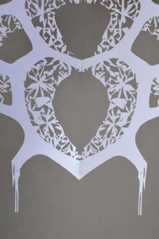 'Southern Rose', 2013, part from paper cutting
