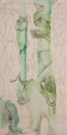 'Crossover' (detail), 42 drawings, water-color, graphite, ink on paper, each 98x49 cm